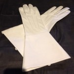 The white gloves worn by members of the Lochac Company of Archers